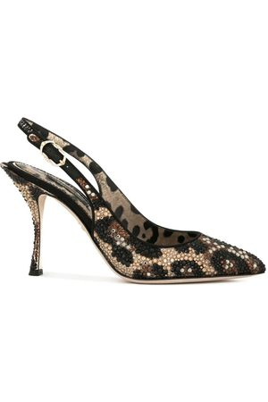 Dolce & Gabbana Slingback-Pumps mit Leoparden-Print