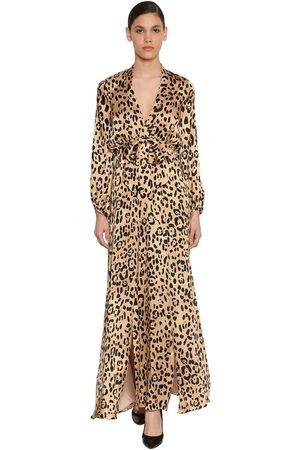 TEMPERLEY LONDON Kleid Aus Seidensatin Mit Leodruck