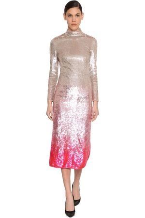 TEMPERLEY LONDON Kleid Aus Stretch-tüll Mt Pailletten