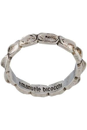 EMANUELE BICOCCHI Croc' Ring - Metallisch