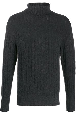 N.PEAL Cable knit roll neck jumper