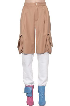 Natasha Zinko Gabardine & Cotton Track Pants