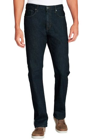 Eddie Bauer Flex Jeans mit Flanellfutter - Straight Fit Gr. 30 Länge 32