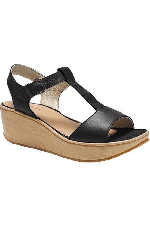 Eddie Bauer Kara Sandale mit Keilabsatz in Holzoptik Damen Gr. 10