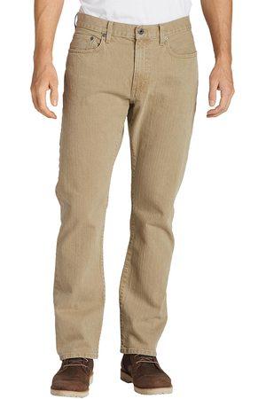 Eddie Bauer Flex Jeans - Straight Fit Natur Gr. 42 Länge 32