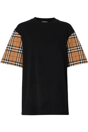 Burberry Vintage Check sleeve oversized T-shirt