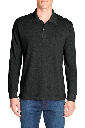 Eddie Bauer Classic Field Pro Polo-Shirt - Langarm Herren Gr. S