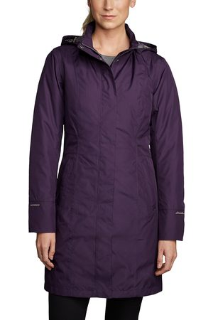 Eddie Bauer Mädchen Outdoorjacken - Girl on the Go Trenchcoat - Isoliert Gr. XS