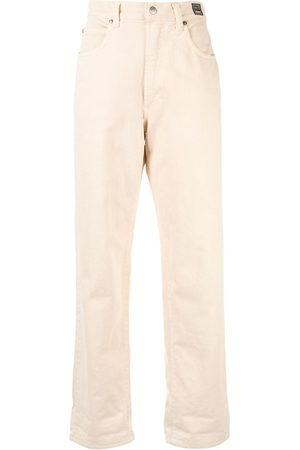 VERSACE Gerade Jeans mit hohem Bund - Nude