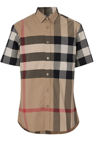 Burberry Classic check short sleeved shirt - Nude