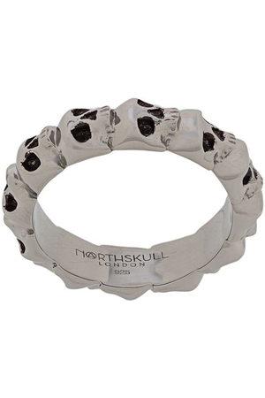 NORTHSKULL Medius skull band ring - Metallisch