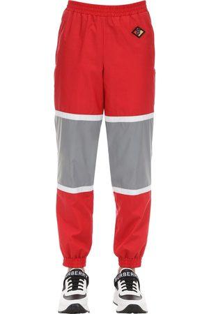 Burberry Logo Patch Cotton Blend Track Pants