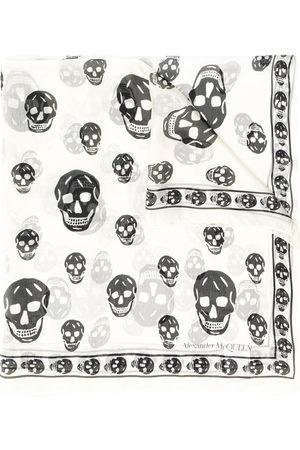 Alexander McQueen Schal mit Totenkopf-Print