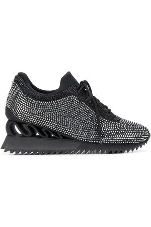 LE SILLA Reiko Wave crystal-embellished sneakers