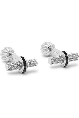 Tom Ford Herren Manschettenknöpfe - 18-karat White Gold Diamond Cufflinks