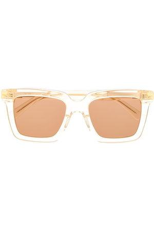 Bottega Veneta Eyewear Sonnenbrillen - Sonnenbrille mit eckigem Gestell - Nude