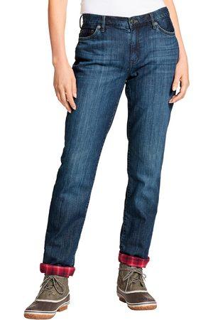 Eddie Bauer Boyfriend Jeans mit Flanellfutter Gr. 16