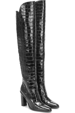 Max Mara Overknee-Stiefel Beboot aus Leder