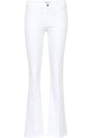 J Brand Mid-Rise Flared Jeans Sallie