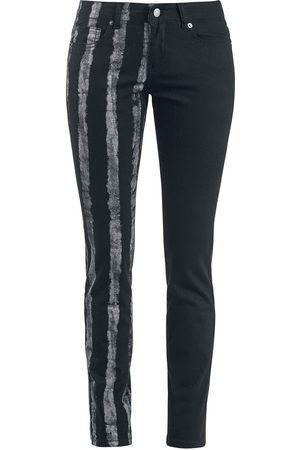 Forplay Striped Leg Stretch Denim Girl-Jeans