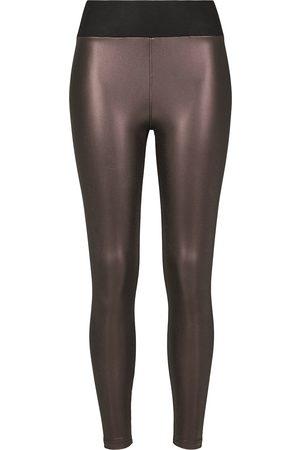 Urban classics Ladies Faux Leather High Waist Leggings Leggings weinrot