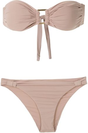 AMIR SLAMA Bikini mit Bandeau-Top - Nude