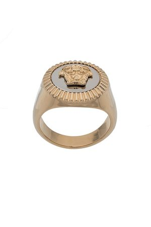 VERSACE Damen Ringe - Emaillierter Ring mit Medusa
