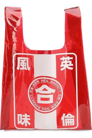 Neil Barrett Printed Pvc Tote Bag