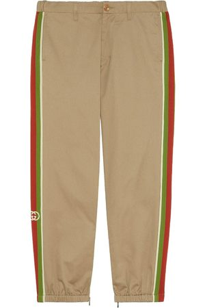 Gucci Cotton pant with stripes - Nude