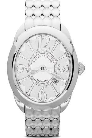 Backes & Strauss Regent Steel 4047' Armbanduhr - WHITE