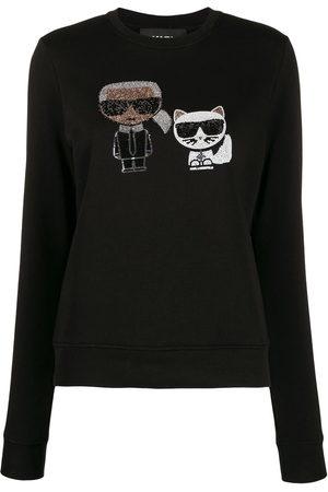 Karl Lagerfeld Ikonik' Sweatshirt mit Kristallen