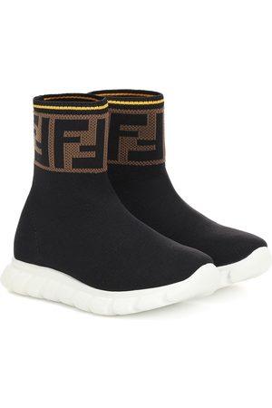 Fendi High-Top-Sneakers mit Logo