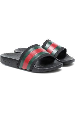 Gucci Pantoletten mit Streifen