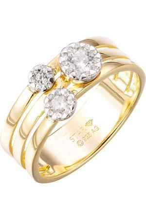 Stardiamant Ring - Brillant Gelbgold/Weiß 585 - D6490GW