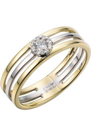 Stardiamant Ring - Brillant Gelbgold/Weiß 585 - D6486GW