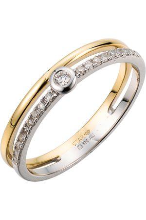 Stardiamant Ringe - Ring - Brillant Gelbgold/Weißgold 585 - D6487GW