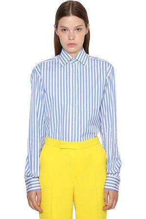 Ralph Lauren Striped Cotton Poplin Boyfriend Shirt