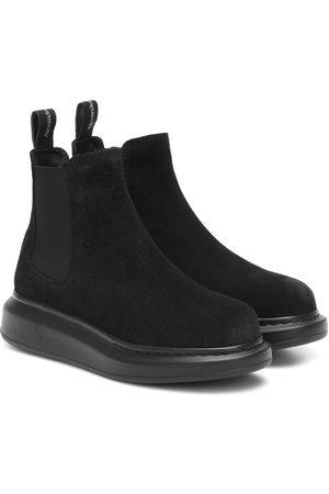 Alexander McQueen Chelsea Boots aus Veloursleder