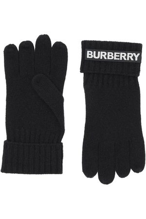 Burberry Kingdom and logo appliqué gloves