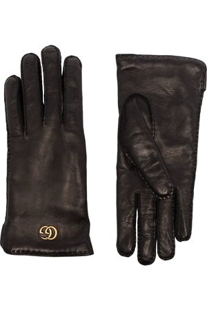 Gucci Maya Double G plaque gloves