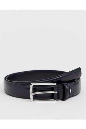 Jack & Jones Gürtel aus hochwertigem, schwarzem Leder