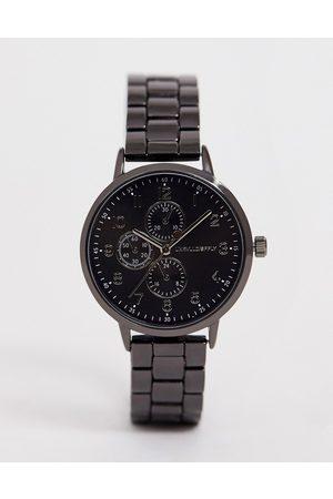 ASOS Schmale Armbanduhr in Stahlgrau
