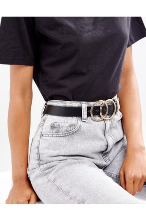 ASOS Taillen- und Hüft-Jeansgürtel mit kreisförmiger Doppelschnalle