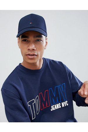Tommy Hilfiger Klassische, marineblaue Baseball-Kappe mit Flagge-Navy