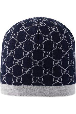 Gucci Kinder Mütze aus Wolle mit GG Muster