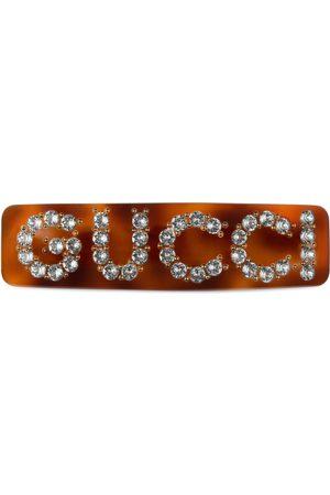 Gucci Einzelne Haarspange mit Kristall-Motiv