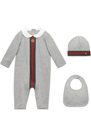 Gucci Dreiteiliges Baby Geschenkset mit Webstreifen