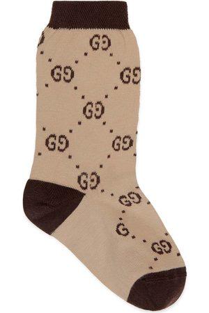 Gucci Kinder Socken aus Baumwolle mit GG