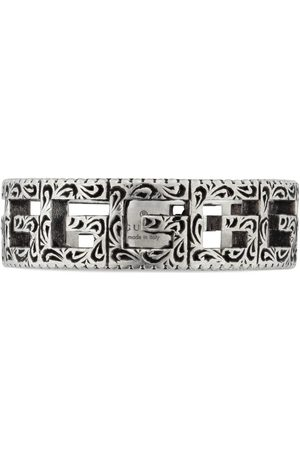 Gucci Ring aus Silber mit Square G