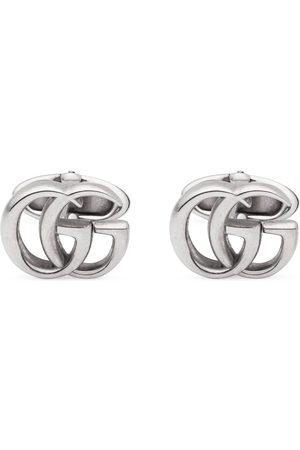 Gucci Manschettenknöpfe aus Silber mit Doppel G